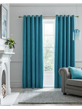 laurence-llewelyn-bowen-montrose-velvet-blackout-eyelet-curtains