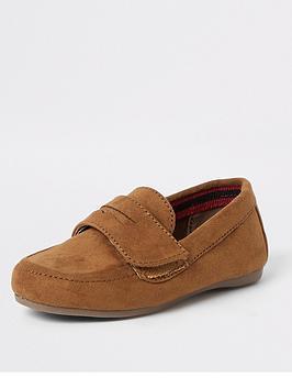 river-island-mini-mini-boys-velcro-strap-loafers-tan