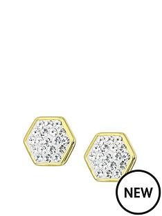 evoke-evoke-gold-plated-sterling-silver-swarovski-crystals-hexagon-shape-stud-earrings