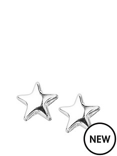 the-love-silver-collection-rhodium-plated-sterling-silver-star-stud-earrings