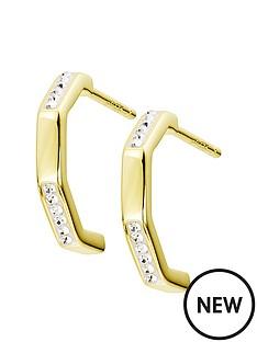 evoke-evoke-gold-plated-sterling-silver-swarovski-crystals-hexagon-shaped-stud-earrings