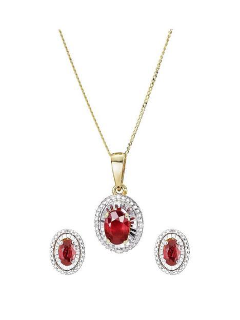 love-gem-9ct-yellow-gold-treated-ruby-diamond-jewellery-set