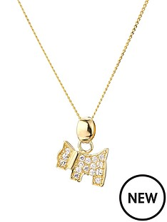 love-gold-9ct-yellow-gold-white-cubic-zirconia-dog-pendant-on-18-inch-curb-chain