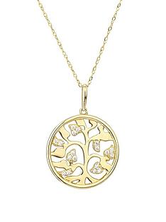 love-gold-9ct-yellow-gold-cubic-zirconia-tree-of-life-165mm-round-pendant-on-18inch-trace-chain