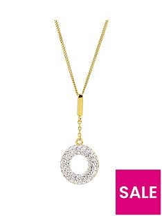 evoke-evoke-gold-plated-sterling-silver-swarovski-crystal-halo-drop-pendant-necklace