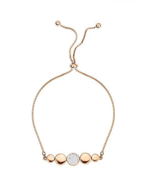 evoke-rose-gold-plated-sterling-silver-swarovski-crystal-adjustable-box-chain-friendship-bracelet