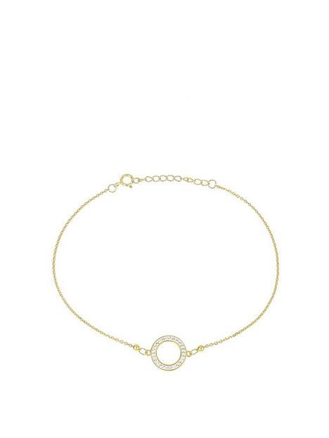 evoke-gold-plated-sterling-silver-swarovski-crystal-halo-bracelet