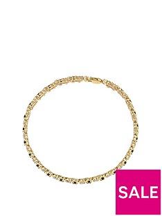 love-gem-9ct-yellow-gold-210mm-round-black-sapphire-and-009ct-diamond-bracelet