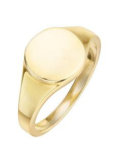 the-love-silver-collection-gold-plated-sterling-silver-10mm-signet-ring