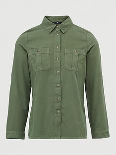 v-by-very-ultimate-button-through-shirt-khaki
