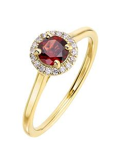 love-gem-9ct-yellow-gold-5mm-round-garnet-and-008ct-diamond-birthstone-halo-ring