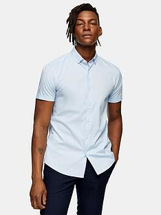 topman-stretch-skinny-shirt-blue