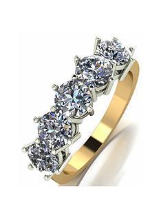 moissanite-moissanite-9ct-gold-5-stone-250ct-eternity-ring