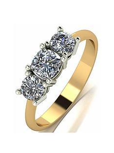 moissanite-moissanite-9ct-gold-1ct-cushion-centre-trilogy-ring