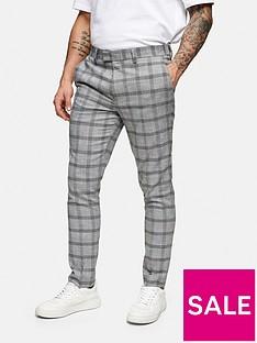 topman-slim-fit-check-suit-trousers-grey