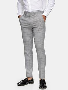 topman-skinny-fit-check-suit-trousers-grey