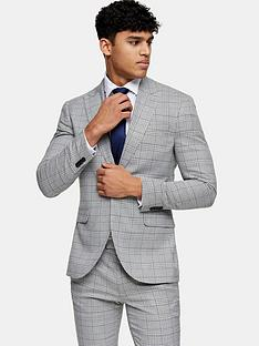 topman-skinny-fit-check-suit-jacket-grey