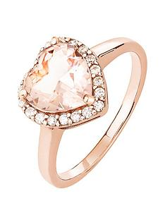 the-love-silver-collection-rose-gold-plated-sterling-silver-cubic-zirconia-heart-morganite-colour-glass-ring