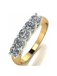 prod1089294550: Moissanite 18ct Gold 1ct Total Eternity Ring