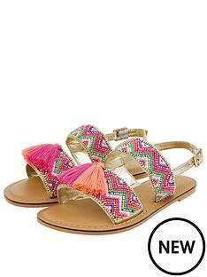 accessorize-girls-chevron-beaded-tassel-sandals-pink