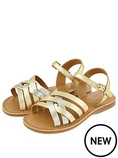 accessorize-girls-metallic-leather-sandal-gold