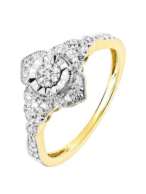 love-diamond-9ct-yellow-gold-014ct-diamond-vintage-style-ring