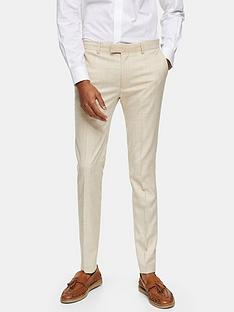 topman-super-skinny-suit-trousers-stone