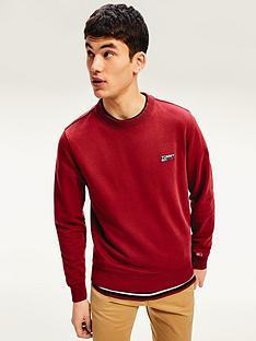 tommy-jeans-washed-corp-logo-sweatshirt-red