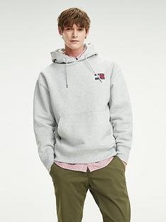 tommy-jeans-tommy-badge-pullovernbsphoodie-grey