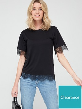 v-by-very-lace-sleeve-hem-detail-t-shirt-black