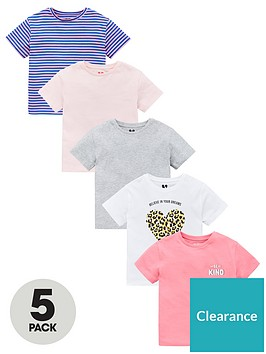 v-by-very-girls-5-pack-be-kind-t-shirt-multi