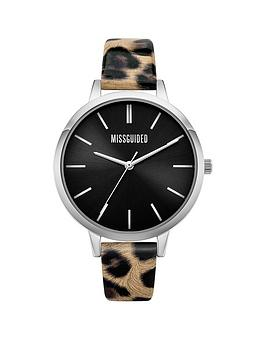 missguided-missguided-leopard-printed-strap-with-black-dial