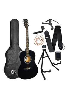 3rd-avenue-3rd-avenue-acoustic-guitar-premium-pack-black