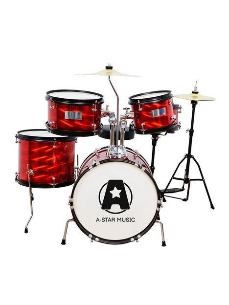 rocket-rocket-5-piece-junior-drum-kit-red
