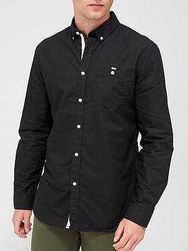 very-man-long-sleeved-oxford-shirt-black
