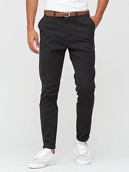 very-man-belted-casual-slim-fit-stretch-chino-black