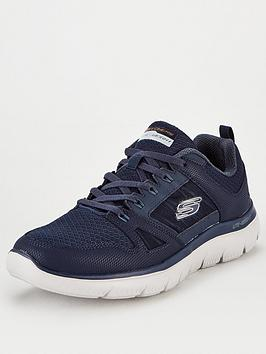 skechers-summits-mesh-trainers-navy