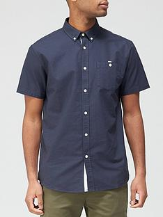 very-man-short-sleeved-oxford-shirt-navy