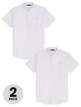 very-man-2-pack-short-sleeved-oxford-shirt-white