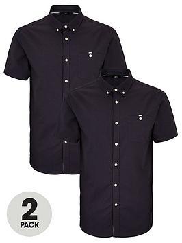 very-man-short-sleeved-oxford-shirt-2-pack-navy