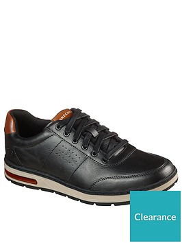 skechers-evenston-leather-trainers-brown