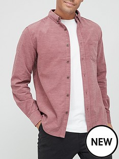 very-man-plain-marl-cord-shirt-red