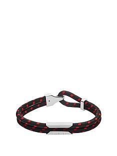 diesel-diesel-black-and-red-nylon-and-stainless-steel-mens-bracelet