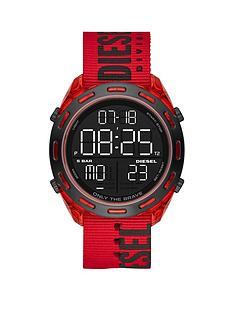 diesel-diesel-crusher-digital-dial-red-case-black-branded-fabric-strap-mens-watch