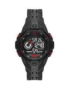 puma-puma-black-and-red-detail-digital-dial-black-pu-strap-watch