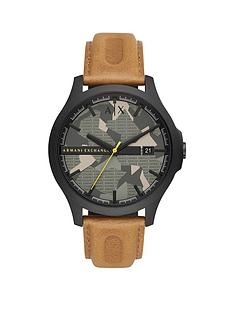 armani-exchange-armani-exchange-hampton-brown-leather-strap-green-camo-dial-mens-watch