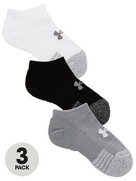 under-armour-youth-heatgear-3-packnbspno-show-socks-grey