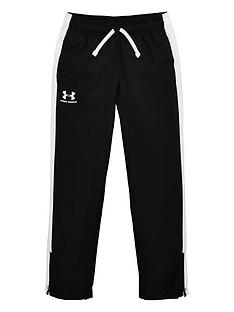 under-armour-childrens-woven-track-pants--nbspblack-white