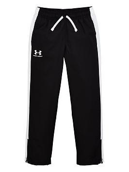under-armour-childrens-woven-track-pants--nbspblack-white