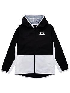 under-armour-childrensnbspwoven-track-jacket-blackwhite